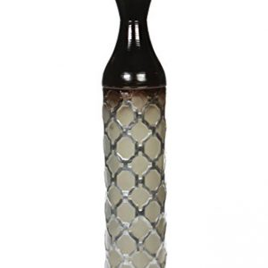 Hosley Metal Brown Grey Tones Moroccan Embossed Floor Vase, 28.5″ High. Great Vase for Dried Floral Arrangements, Craft Projects, Ideal Gift for Wedding, Special Occasion, Home, Office P2