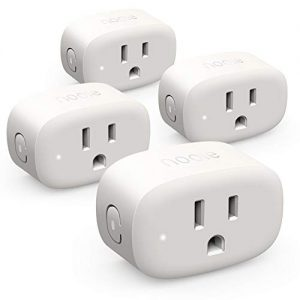 Nooie Smart Plug Wifi Outlet Mini Smart Socket Compatible with Alexa, Google Assistant, No Hub Required. Schedule Timer Function Control Electric Devices(4packs)