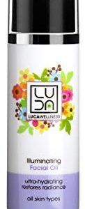 Luca Wellness Illuminating Facial Oil – Creates a Glowing, Luminous Complexion. With Naturally Derived Extracts, Botanicals & Oils. Evening Primrose, Avocado & Olive Oil Nourish & Rejuvenate