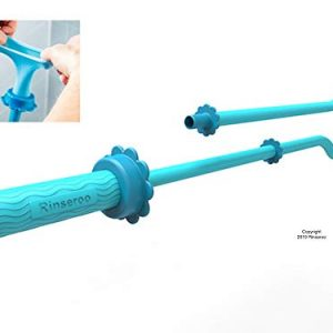Rinseroo: Slip-on Dog Wash Hose Attachment. Pet Shower Sprayer for Showerhead and Sink. Handheld Rinser for Bathing Dogs. Fits Most Faucets. Universal 5 Foot Flex Hose-No Installation