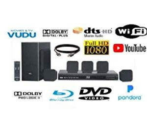 RCA RTB10323LW 200 Watts Home Theater System with Blu-ray Player with Wireless Steaming Media Access and 6ft HDMI Cable (Renewed)