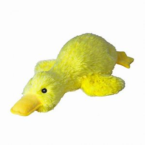 EXPAWLORER Pet Plush Squeaky Dog Toy Cute Duck Interactive Filler Chew Toys for Dogs Yellow