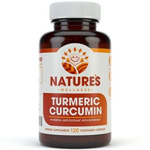 1600mg Organic Turmeric Curcumin w/Bioperine and Black Pepper | Non-GMO | Natural Pain Relief & Joint Support | Highest Potency with 95% Standardized Curcuminoids | Gluten Free | 120…