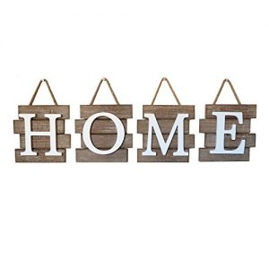"""Barnyard Designs Home Tile Sign Wall Decor, Rustic Primitive Country Decorative Wall Art for Home and Kitchen 32″ x 8"""""""