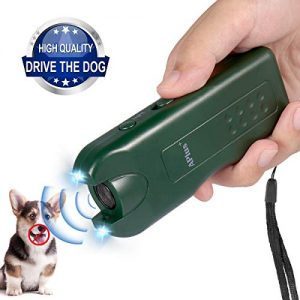 Zomma 2019 New Handheld Dog Repellent, Ultrasonic Infrared Dog Deterrent with 3 Function, Safe for Small Medium Large Dogs Behavior Training, Bark Control Device