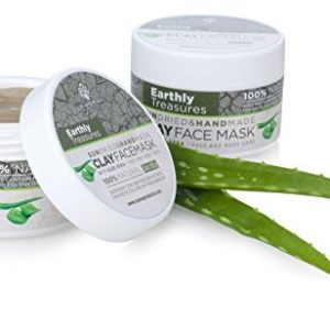 Pure Organic Bentonite Clay Face Mask – Enriched With Natural Aloe Vera – Hand Made From The World's Most Mineral Rich Source – For Women and Men – Deep Facial Skin Healing In Just One Use