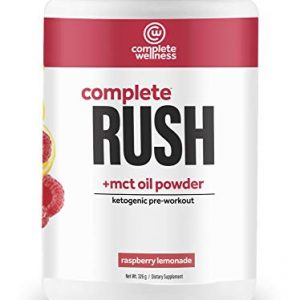 Complete Wellness Complete Rush Pre-Workout + MCT Oil Powder (30 Servings) Raspberry Lemonade