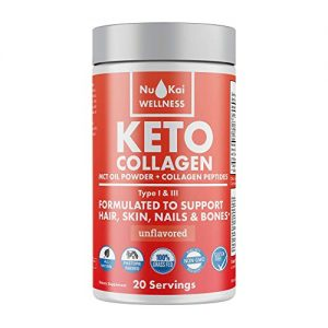 Nu Kai Keto Protein & MCT Oil Powder: Keto Drink Supplement with MCT Oil Powder & Collagen Peptides – Grassfed – Low Carb – No Sugar. Add for Ketogenic Diets and…