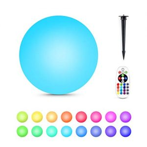 Alwoa LED Ball Lights, Floating Pool Lights, 16 Color Changing, IP68 Waterproof, Rechargeable Moon Lamp Perfect for Kids Bedroom Garden Pool Party Decoration (8inch-Sphere, 1 Pack)