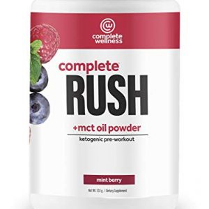 Complete Wellness Complete Rush Pre-Workout + MCT Oil Powder (30 Servings) Mint Berry