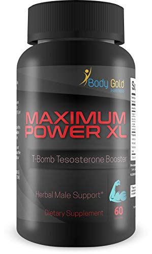 Maximum Power XL – T-Bomb Testosterone Booster – Boost Male Energy, Drive, and Growth – N02 & Testosterone Support – Boost Male Function – Feel Youthful Motivation and Energy – Be Your Best Today!