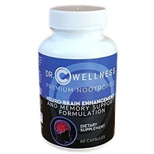 Dr. C WELLNESS Memory Booster supplement for Focus, Clarity and Energy: Ingredients include Huperzine,DMAE,N-Acetyl L-Tyrosine ,DHA, Gaba, Phosphatidylserine Bilberry, multivitamins etc