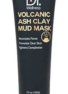 Dr. Wellness Volcanic Ash Clay Mud Mask, Deep Pore Clearing, Purifying + Facial Cleansing, 3.5 oz./ 100 g