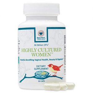 Highly Cultured Women's Probiotics | 50 Billion CFU, 13 Strains, Patented Time Released Capsules, Intensive Once Daily Probiotic Supplement, 30 Count, Best Nest Wellness