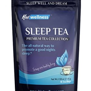 Sleep Tea – Natural Sleep Aid With Valerian Root and Chamomile – Herbal Sleep Aid Tea By Hint Wellness – 18 Tea Bags – 45 g