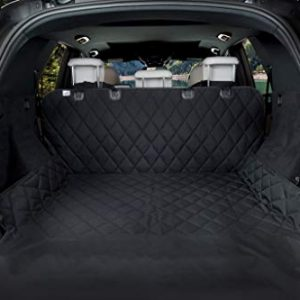 BarksBar Luxury Pet Cargo Cover & Liner For Dogs – 80 x 52 Black, Quilted Waterproof Machine Washable & Nonslip Backing With Bumper Flap Protection- For Cars, Trucks & SUVs
