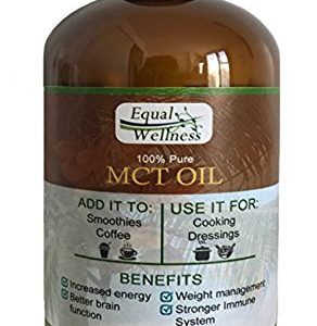 Equal Wellness Pure MCT Oil in 16 oz Glass Bottle. Made 100% from Coconuts and Great for Keto Diet.