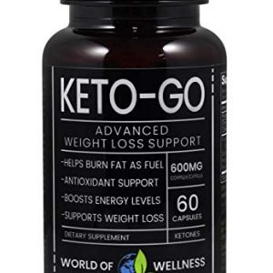 Keto Diet Pills – Science Approved Ketosis Pure Fat Burning Supplement 600 MG – Energy Boosting Caffeine Electrolyte – Zero Carb Ketone Magnesium Vitamin and Weight Control Antioxidant (60…