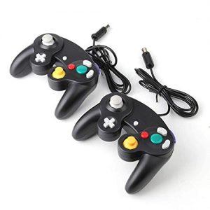 1.5m/4.9ft Gamecube Controller, NGC Classic Wired Controller Compatible with Nintendo Gamecube Wii Wii U Video Game Console -2pcs(Black)