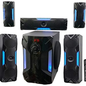 Rockville HTS56 1000w 5.1 Channel Home Theater System/Bluetooth/USB+8″ Subwoofer