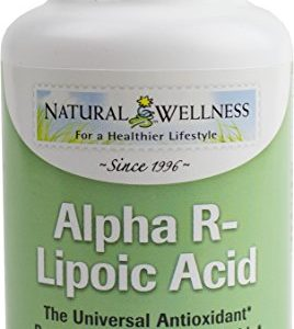 Natural Wellness Alpha R-lipoic Acid Superior Antioxidant 60 Capsules – Better Absorbed & More Potent Form of Alpha Lipoic Acid, Powerful Scavenger of Free Radicals