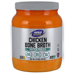 Now Sports Nutrition, Chicken Bone Broth Powder Made with Premium-Quality Chicken Bone Extract, 1.2-Pound