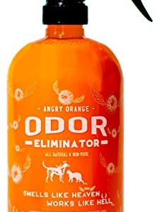 ANGRY ORANGE 24 oz Ready-to-Use Citrus Pet Odor Eliminator Pet Spray – Urine Remover and Carpet Deodorizer for Dogs and Cats