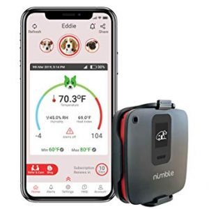 RV PetSafety | Pet Monitor 4G Lite – Powered by Verizon Cellular – No Wi-Fi Needed – Pet Environment Temperature & Humidity Monitor – 24/7 SMS & Email Alerts – in-app (iPhone/Android) Notification.