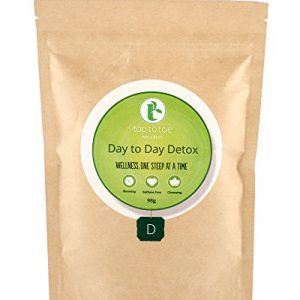 Top to Toe Wellness – Day to Day Detox Tea | Best 100% Natural and Organic Weight Loss Tea | Cleanses Digestive System, Promotes Slimming & Reduces Bloating | With Decaf Sencha | Loose Leaf 84 grams