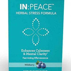 IN:PEACE Herbal Stress Formula Natural Anxiety Remedy, 10 Delish Drink Mix Packs, Wild Berry Flavor 9 Herb ANTIOXIDANT + ADAPTOGEN Blend, Clinically Proven Ingredients, Crafted by a Licensed Herbalist