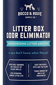 Rocco & Roxie Litter Box Odor Eliminator – Best Natural Litter Deodorizer – You Won't Need to Change The Litter as Often – Fresh Scent – Safe for Kitty (12 oz Bottle)
