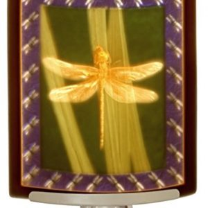 Dragonfly – Colored Curved Porcelain Lithophane Night Light