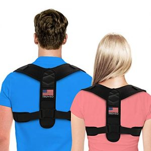Posture Corrector For Men And Women – USA Designed Adjustable Upper Back Brace For Clavicle Support and Providing Pain Relief From Neck, Back and Shoulder (Universal)
