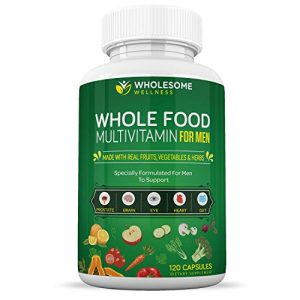 Whole Food Multivitamin for Men (120 Tablets) – Natural Multi Vitamins, Minerals, Organic Extracts – Vegan Vegetarian – Best for Daily Energy, Brain, Heart, Eye Health