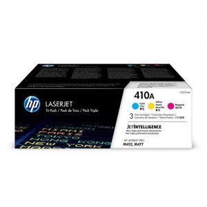 HP 410A | CF411A, CF412A, CF413A | 3 Toner Cartridges | Cyan, Yellow, Magenta