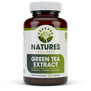 EGCG Green Tea Extract Capsules – Powerful Metabolism Booster for Weight Loss, Energy and Heart Health – Green Tea Pills are Natural Caffeine Pills with Antioxidants & Free Radical Scavengers – 500mg