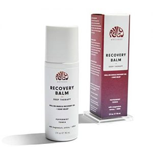 Rally Wellness Recovery Balm Transdermal Magnesium Muscle Joint Recovery Gel with MSM and Arnica Gel Roll-On 3 Fl oz. (Deep Therapy)