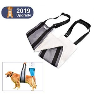 Fine-Pets Dog Sling Harness – Dog Support Lift Harness for Small-Medium-Large Breed Dogs – Small Dog Lifting Hip Harness for Rear Legs – Adjustable Handles and Soft for Elderly Dogs,Disabled,Injuired