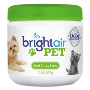 Bright Air Pet Odor Eliminator, Cool Citrus, 14 oz Jar, 6/Carton (BRI900258)