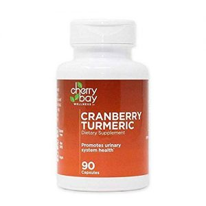 Cranberry Turmeric Dietary Supplement 480mg | 90 Count Bottle | Non-GMO & Gluten Free | Helps to Support a Healthy Urinary System