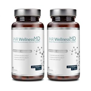 Inr Wellness MD – Ultra-Pure Beta-Glucan | Dietary Supplement with PURACERE (VCx) for Immune Support | 508mg (120 Caps)
