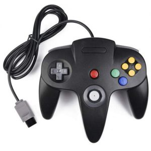 LUXMO Classic Wired Gamepad Joystick For N64 Video Game System Console – Black
