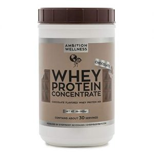 Ambition Wellness- Premium Whey Protein Concentrate 2LBS(Chocolate Flavored)