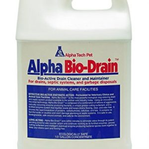 Alpha Tech Pet Bio-Drain, Drain Maintenance and Odor Eliminator, 1/2 Gallon Bottle