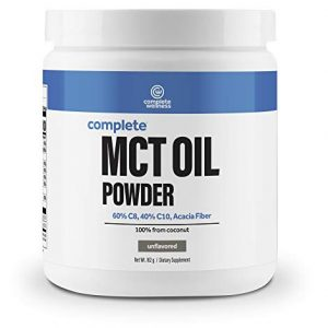 Complete Wellness MCT Oil Powder – 30 Servings – High Quality Powder, Perfect for Keto/Low Carb