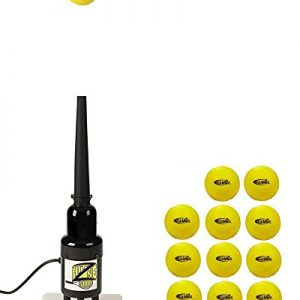 Hit Zone JR Tennis Air Tee! Ball Floats in Mid Air – Includes a Dozen Balls – Great Training Aid for 10 & Under Junior Players! Model HZ-T500 – Includes 14.5 inch Bonus Sleeve – Made in The USA!