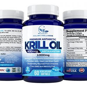 Krill Oil – Pure Antarctic Krill Oil with Astaxanthin, Omega 3, DHA & EPA   1000mg per Serving   Multi-Step Oil Extraction Retains More Goodness   Unmatched Purity   Sustainable Harvested
