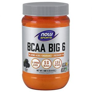 Now Sports Nutrition, BCAA (Branched Chain Amino Acids) Big 6, Grape Flavor, 600 Grams