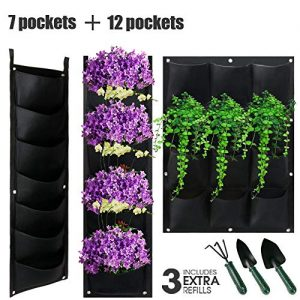 Hanging Vertical Wall Planter With 7/12 Pockets For Garden Yard Fence Decoration