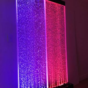 72″x40″ XXL Bubble Fountain, Twin Bubble Panel, Color Lights/ Remote Ctrl By Jersey Home Decor